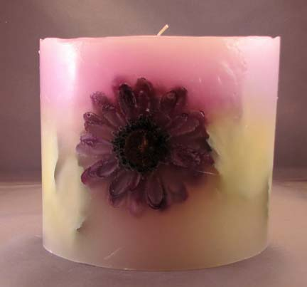 Large Oval Flower Embedded Candle