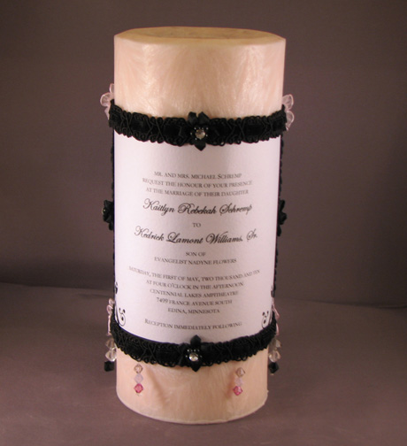 4X9 Round Palm Wax Forever Unity Pillar Candle