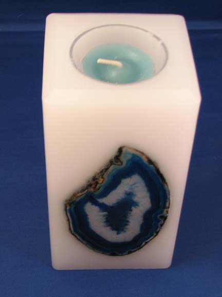 3x6 Square Agate Forever Candle