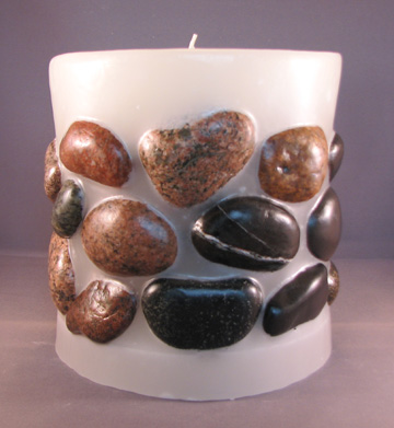 Lake Superior Stone Candle